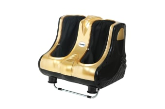 Livemor 3D Foot Massager Ankle Calf Leg Massagers Shiatsu Kneading Rolling Gold