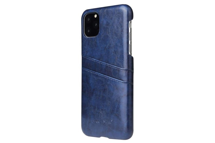 For iPhone 11 Pro Max Case Deluxe Leather Wallet Back Slim Protective Cover Blue