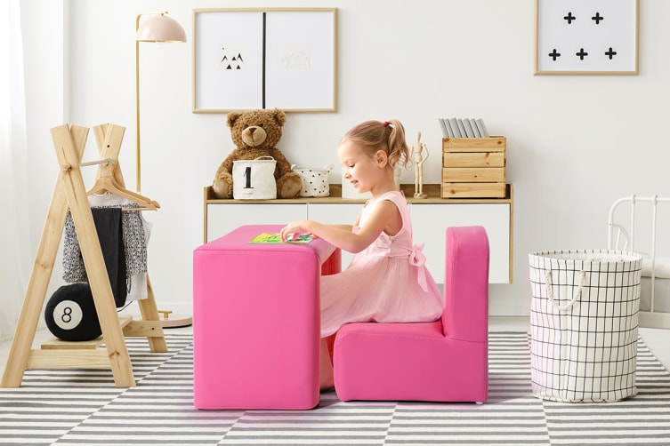 Ovela Kids Transformer Chair Table - Hot Pink