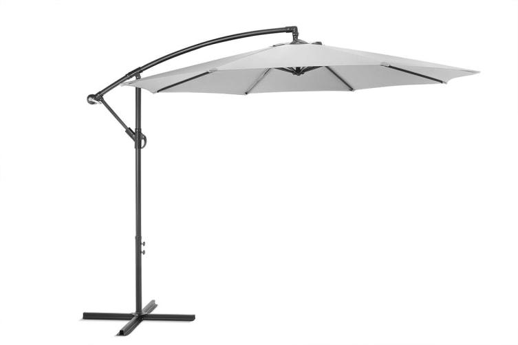 Shangri-La 3 Metre Cantilever Outdoor Umbrella with Bonus Protective Cover (Grey)