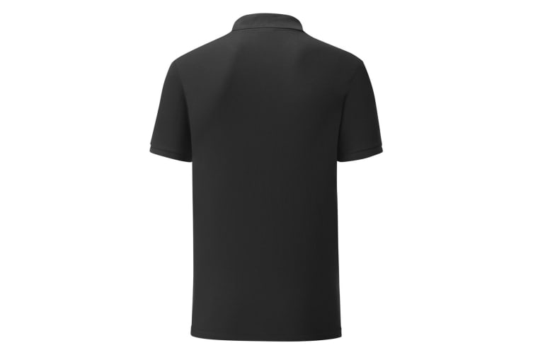 Fruit Of The Loom Mens Tailored Poly/Cotton Piqu Polo Shirt (Black) (S)