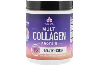 Dr. Axe / Ancient Nutrition Multi Collagen Protein Beauty + Sleep, Calming Natural Lavender Flavour 535g
