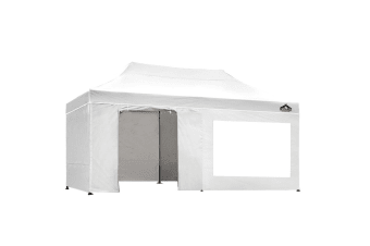 Pop Up Gazebo 3x6m Outdoor Gazebos Wedding Marquee Tent White