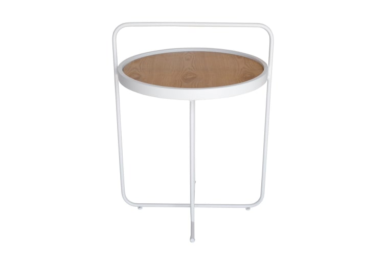 Granville Side Table | White & Natural