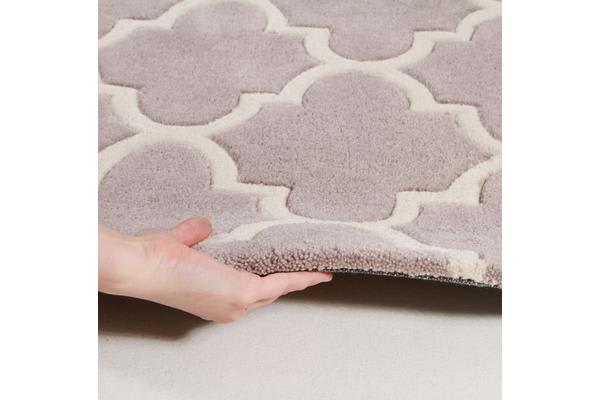 Lattice Grey Rug 165x115cm