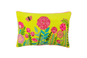 Paoletti Country Garden Cushion Cover (Lime)
