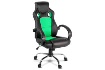 Racing Style PU Leather Office Chair (Green)