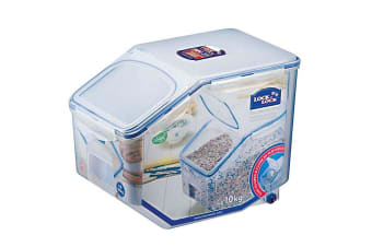 Lock & Lock Rectangular Tapered Rice Case 12L with  Measuring Cup
