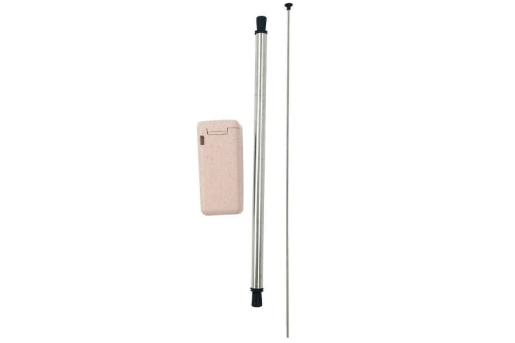 Avanti Collapsible Stainless Steel Straw - Pink