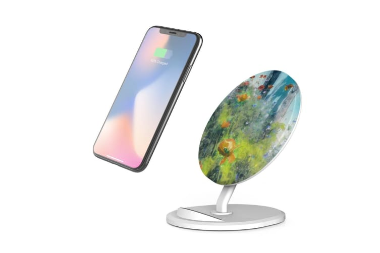 QI Wireless Charger For iPhone 11 Samsung Galaxy S20+ S20 Ultra Note 10+ Garden