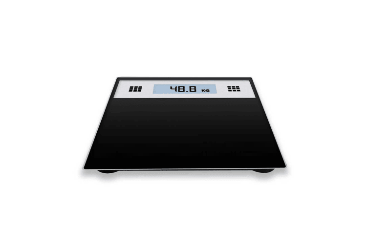SOGA 180kg Electronic Talking Scale Weight Fitness Glass Bathroom Scale LCD Display Stainless