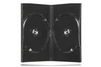 Imatech 14DV02BK DVD Case Double Black Standard Size 14mm
