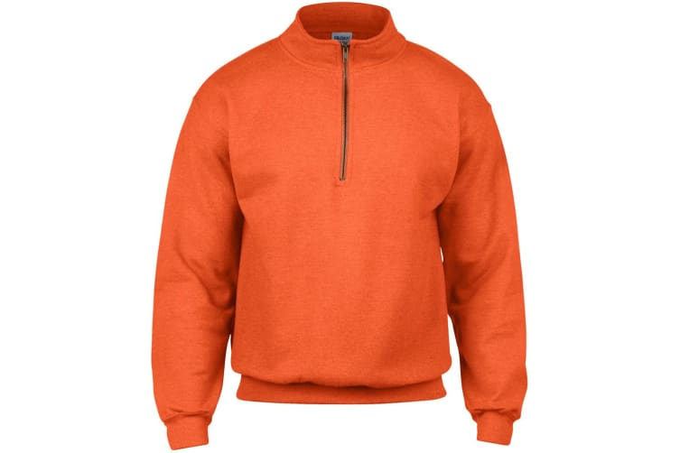 Gildan Adult Vintage 1/4 Zip Sweatshirt Top (Orange) (3XL)