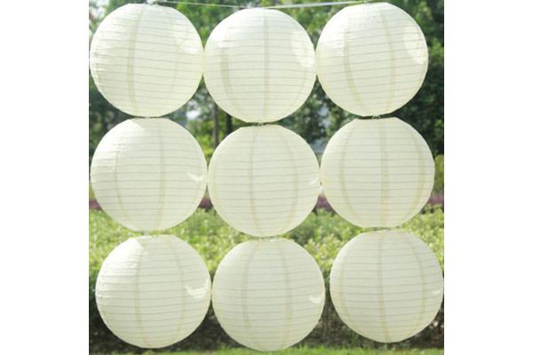 12 Pcs Chinese Paper Lanterns Sky Light Lamp