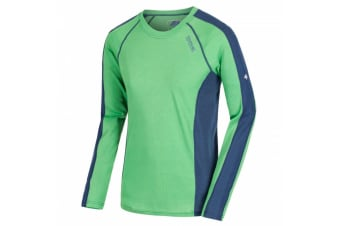 Regatta Great Outdoors Mens Beru Base Layer Shirt (Fairway Green/Dark Denim) (2XL)