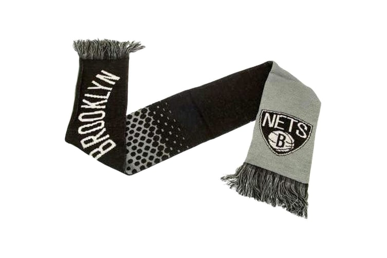 Brooklyn Nets Official NBA Fade Scarf (Black/Grey/White) (One Size)