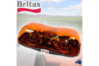 DUAL ROTATING BEACON AMBER DOUBLE FLASHING LIGHT NEW 12V 12 VOLT BRITAX 420-00