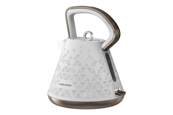 Morphy Richards Prism Pyramid Kettle (White)
