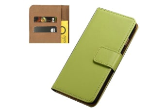 For iPhone 8 PLUS 7 PLUS Wallet Case Elegant Slim Luxury Leather Cover Green