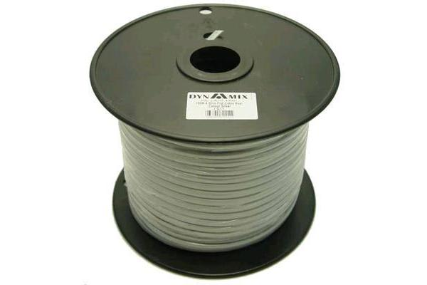 Dynamix 100M Roll 4 Wire Flat Cable. Silver colour.
