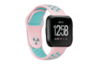 Fitbit Versa Bands Sport Silicone Breathable Strap Replacement Pink&Blue