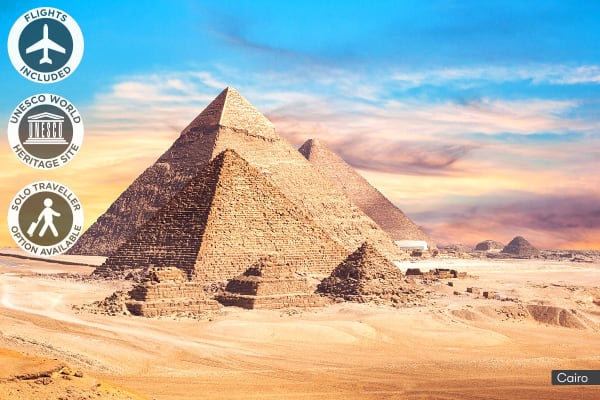EGYPT: 10 Day Walk Like an Egyptian Tour Including Flights for Two