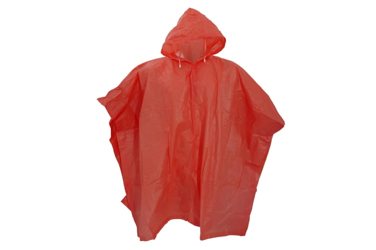 Splashmacs Unisex Lightweight Rain Poncho (Red) (ONE)