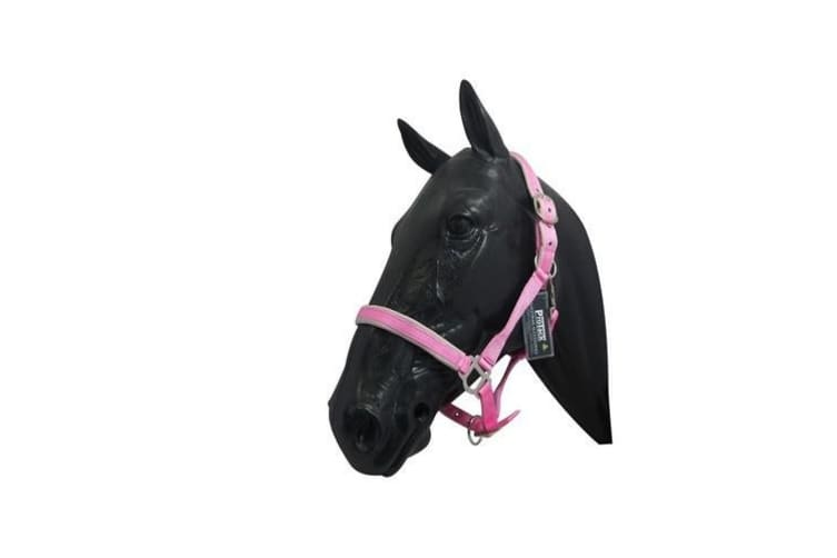 ProTack Headcollar Comfort Adjustable (Pink/Baby Pink) (Pony)