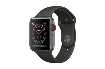 Apple Watch Series 3 (Space Grey, 38mm, Grey Sport Band, GPS + Cellular)