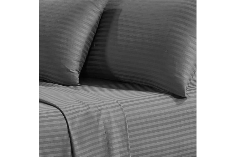 Corinna 1500TC Cotton Rich Bed Sheet Set - King Single Grey