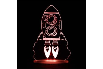Remote Controlled Rocket LED Kids Night Lamp