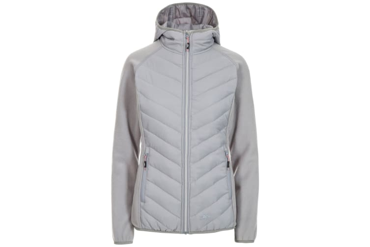 Trespass Womens/Ladies Boardwalk Padded Hooded Fleece Jacket (Platinum) (S)