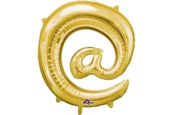 Anagram Supershape 34 Inch Punctuation Balloon (Gold) (At Sign)