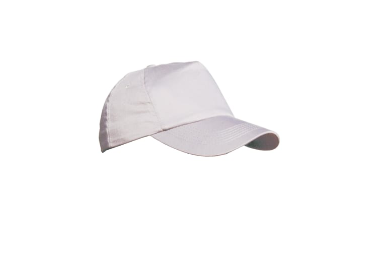 Result Unisex Plain Baseball Cap (White) (One Size)