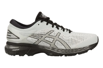 ASICS Men's Gel-Kayano 25 Running Shoe (Glacier Grey/Black, Size 12.5)