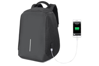 Lenoxx Black Backpack w/ USB Port