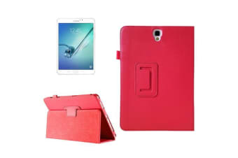 For Samsung Galaxy Tab S3 SM-T810 815 Case Lychee Protective Leather Cover Red