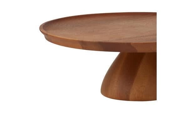 Davis & Waddell Acacia Footed Cake Stand 30x10cm