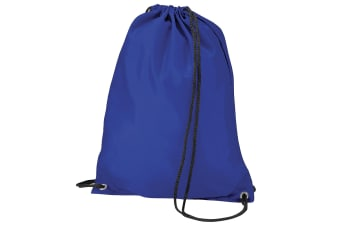 BagBase Budget Water Resistant Sports Gymsac Drawstring Bag (11 Litres) (Royal)