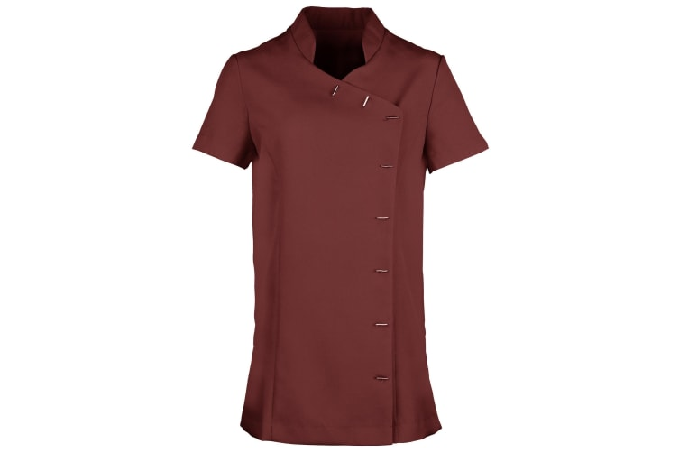 Premier Womens/Ladies *Orchid* Tunic / Health Beauty & Spa / Workwear (Pack of 2) (Burgundy) (18)