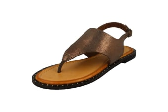 Leather Collection Womens/Ladies Sandals (Bronze) (3 UK)
