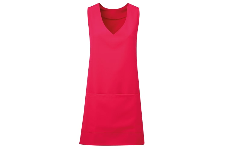 Premier Womens/Ladies Wrap Around Sleeveless Tunic Apron (Hot Pink) (S/M)
