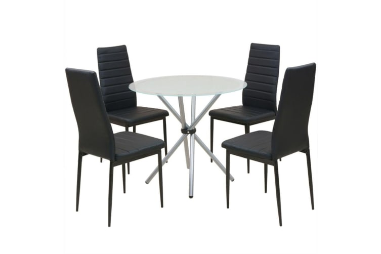 vidaXL Five Piece Dining Table and Chair Set