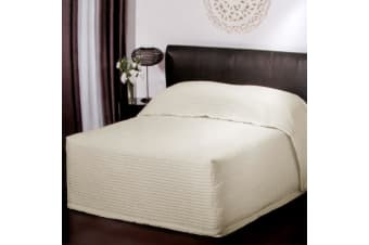 Plaza Ivory Quilted Bedspread King Single