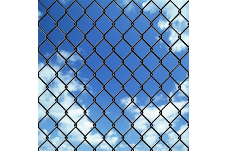 vidaXL Chain Link Fence with Spike Anchors 0.8x15 m Grey