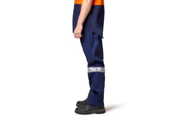 Hard Yakka Foundations Drill Pant with Double Hoop Tape (Navy, Size 132S)