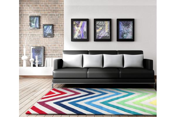 Chevron Multi Coloured Rug 165x115cm