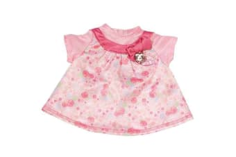 Baby Annabell Dress - Day Dress Floral With Pink Bow