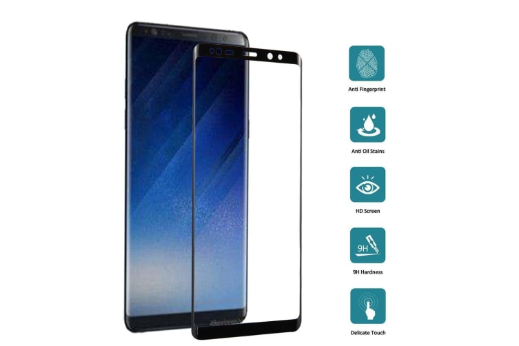 For Samsung Galaxy Note 8 Screen Protector Tempered Glass 9H Hardness Black