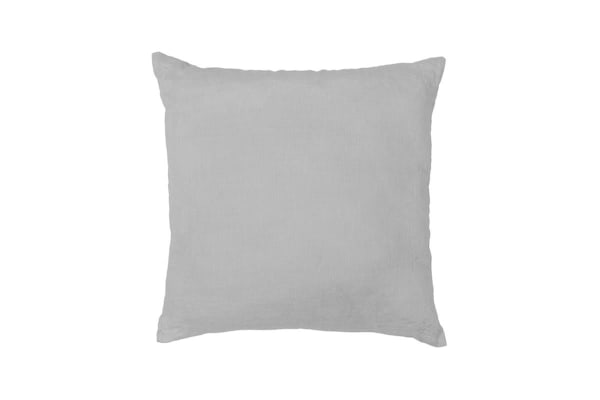 Bambury Una Cushion - Linen Blend - 50 x 50cm - Filled - Grey